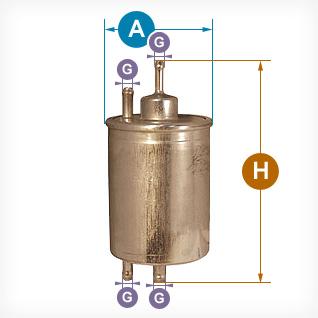 Wymiary filtrów paliwa